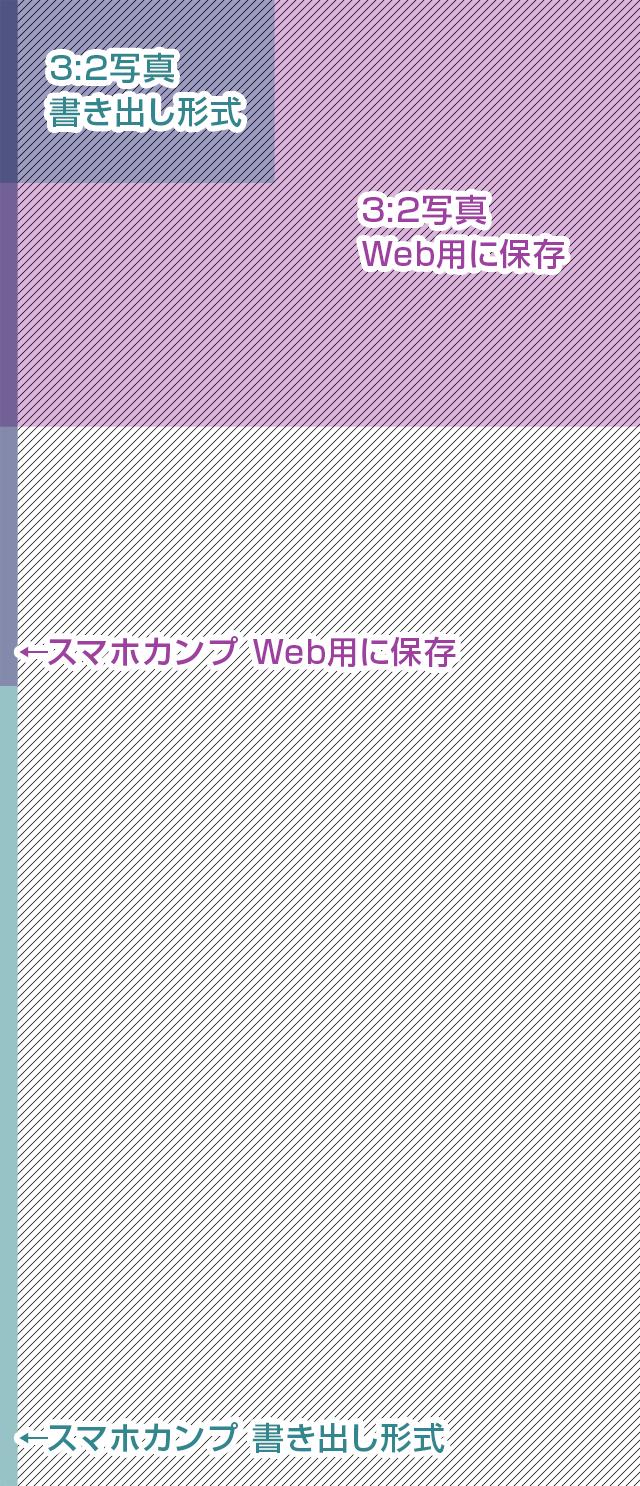 Web用に保存と書き出し形式の検証画像