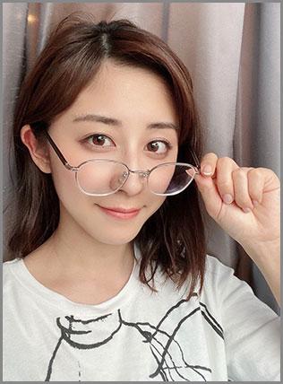 斎藤ちはるアナ眼鏡